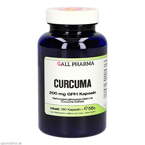 Curcuma 200mg Kapseln, 180 ST, Hecht-Pharma GmbH