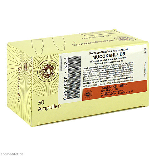 MUCOKEHL D 5, 50X1 ML, Sanum-Kehlbeck GmbH & Co. KG