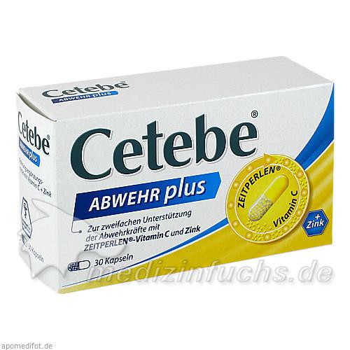 CETEBE ABWEHR plus Vitamin C+Zink Kapseln, 30 ST, GlaxoSmithKline Consumer Healthcare GmbH & Co. KG