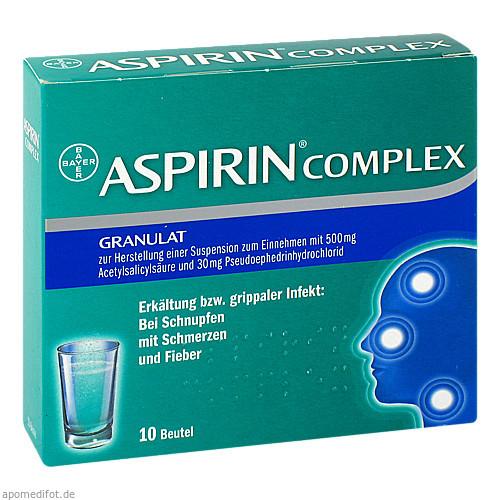 ASPIRIN COMPLEX Beutel, 10 ST, Bayer Vital GmbH