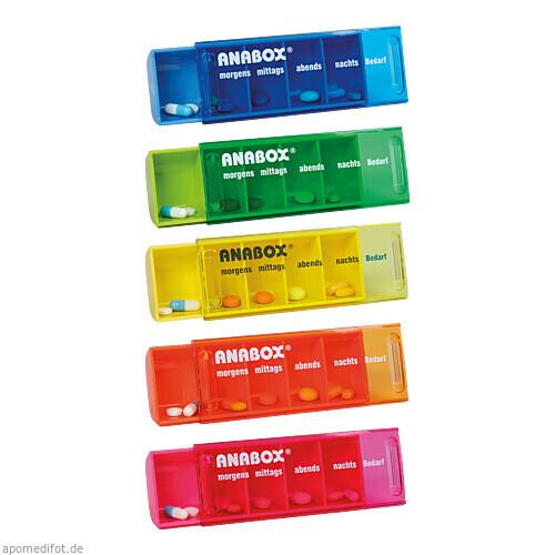 ANABOX-Tagesbox farbig-sortiert, 1 ST, WEPA Apothekenbedarf GmbH & Co KG