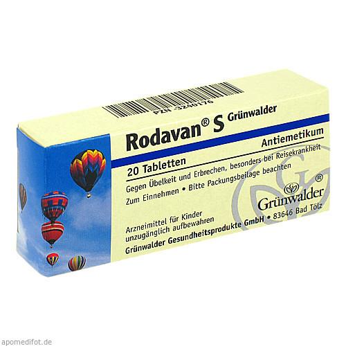 RODAVAN S GRÜNWALDER, 20 ST, Grünwalder Gesundheitsprodukte GmbH