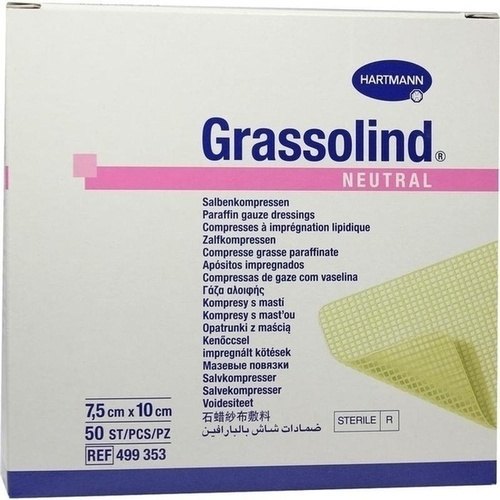 GRASSOLIND Salbenkompressen steril 7.5X10CM, 50 ST, Paul Hartmann AG