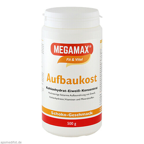 MEGAMAX Aufbaukost Schoko Pulver, 500 G, Megamax B.V.
