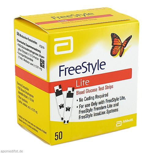 Freestyle Lite Teststreifen ohne codieren, 50 ST, kohlpharma GmbH