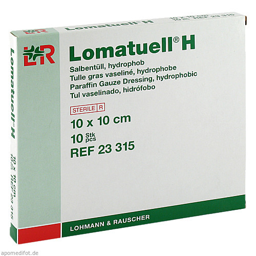 LOMATUELL H 10X10CM, 10 ST, Lohmann & Rauscher GmbH & Co. KG