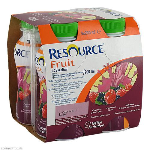 Resource Fruit Himbeere/Schwarze Johannisbeere, 4X200 ML, Ghd Direkt Ii GmbH Vertriebslinie Nestle