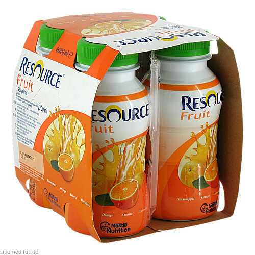 Resource Fruit Orange, 4X200 ML, Ghd Direkt Ii GmbH Vertriebslinie Nestle