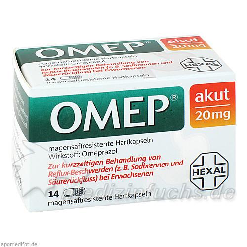 OMEP akut 20 mg magensaftr.Hartkaps., 14 ST, HEXAL AG