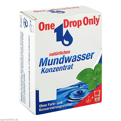 One Drop Only natürliches Mundwasser Konzentrat, 25 ML, One Drop Only Chem.-Pharm. Vertr. GmbH