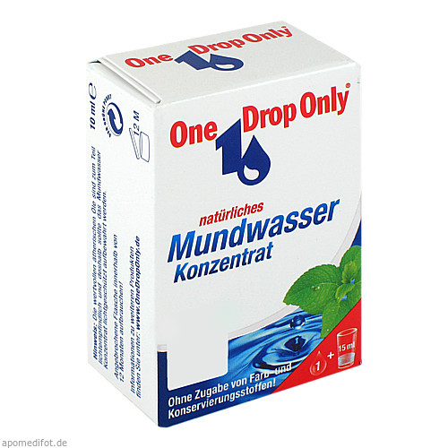 One Drop Only natürliches Mundwasser Konzentrat, 10 ML, One Drop Only Chem.-Pharm. Vertr. GmbH