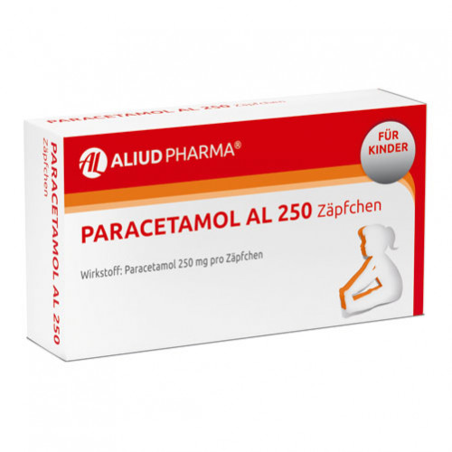 PARACETAMOL AL 250, 10 ST, Aliud Pharma GmbH
