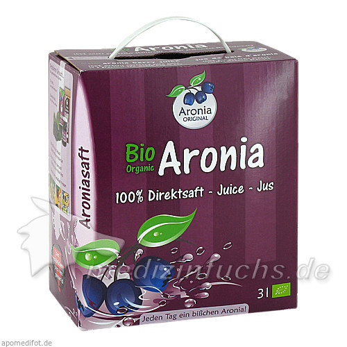 BIO ARONIA Direktsaft, 3 L, Aronia Original Naturprodukte GmbH