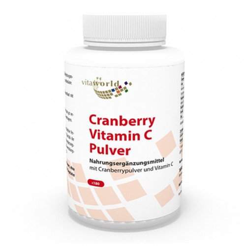 Cranberry plus C 400mg, 180 ST, Vita World GmbH