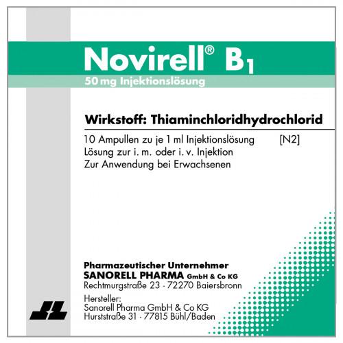 Novirell B1 50mg Injektionslösung, 10X1 ML, Sanorell Pharma GmbH & Co. KG