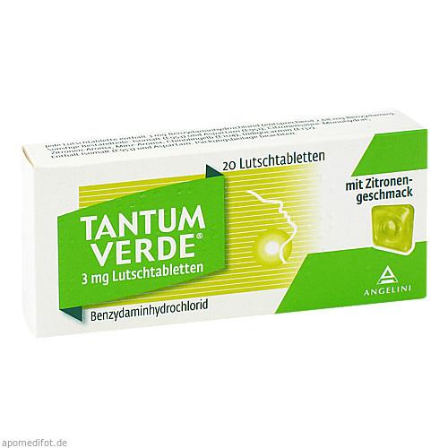 Tantum Verde 3mg mit Zitronengeschmack, 20 ST, ANGELINI Pharma Österreich GmbH