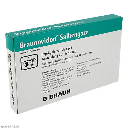 BRAUNOVIDON Salbengaze 7,5x10 cm, 10 ST, B. Braun Melsungen AG