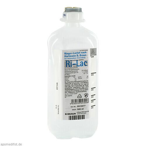 Ringer-Lactat nach Hartmann B. Braun Ecoflac Plus, 500 ML, B. Braun Melsungen AG