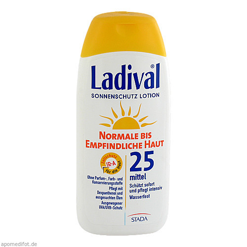 Ladival norm.bis empf.Haut Lotion LSF25, 200 ML, STADA GmbH