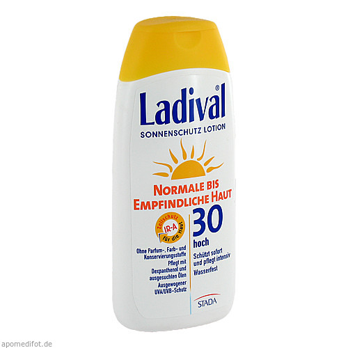 LADIVAL norm.bis empfindl.Haut Lotion LSF 30, 200 ML, STADA GmbH