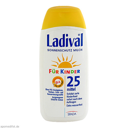 Ladival Kinder Sonnenmilch LSF25, 200 ML, STADA GmbH