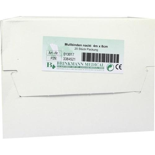 MULLBINDEN BRI UNVERP 4X8, 20 ST, Brinkmann Medical Ein Unternehmen der Dr. Junghans Medical GmbH