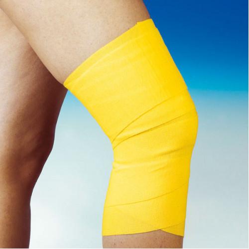 Servosport Color Bandage 8cmx5m gelb, 10 ST, Diaprax GmbH