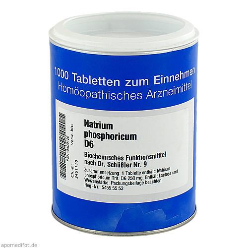 BIOCHEMIE 9 Natrium phosphoricum D 6 Tabletten, 1000 ST, ISO-Arzneimittel GmbH & Co. KG