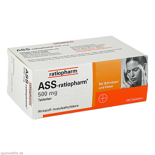 ASS-ratiopharm 500mg, 100 ST, ratiopharm GmbH