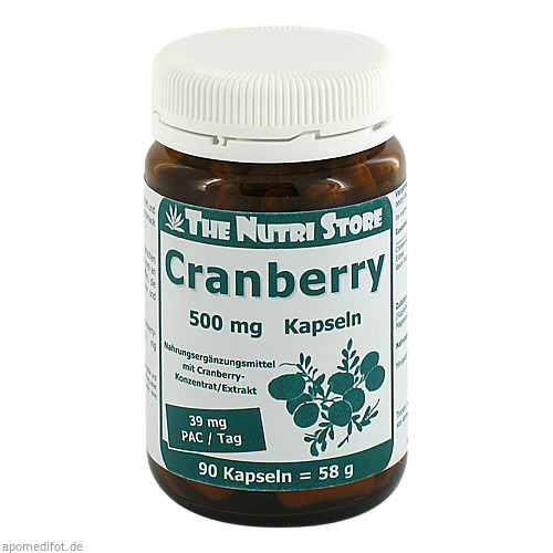 Cranberry 500mg, 90 ST, Hirundo Products