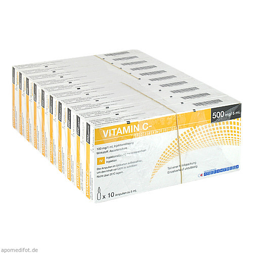 VITAMIN C ROTEXMEDICA, 100X5 ML, Rotexmedica GmbH Arzneimittelwerk