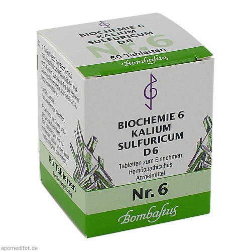 Biochemie 6 Kalium sulfuricum D 6, 80 ST, Bombastus-Werke AG