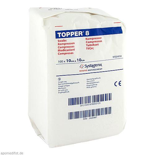 TOPPER 8 UNST 10X10 50410, 100 ST, Kci Medizinprodukte GmbH