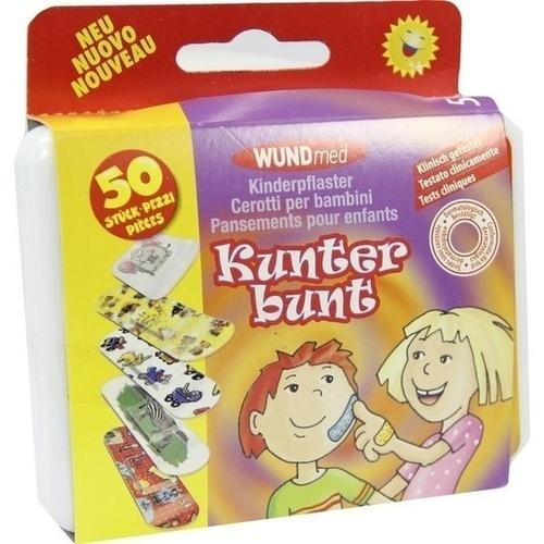 Kinderpflaster Kunterbunt, 50 ST, Axisis GmbH