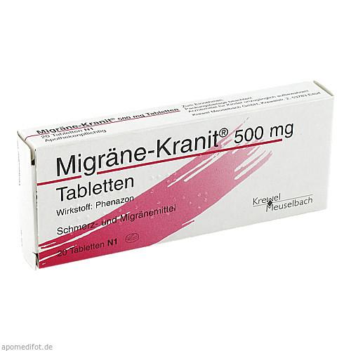 MIGRÄNE KRANIT 500 mg Tabletten, 20 ST, Krewel Meuselbach GmbH