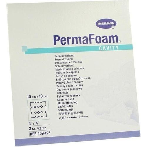 PermaFoam Cavity Schaumverband 10x10cm, 3 ST, Paul Hartmann AG