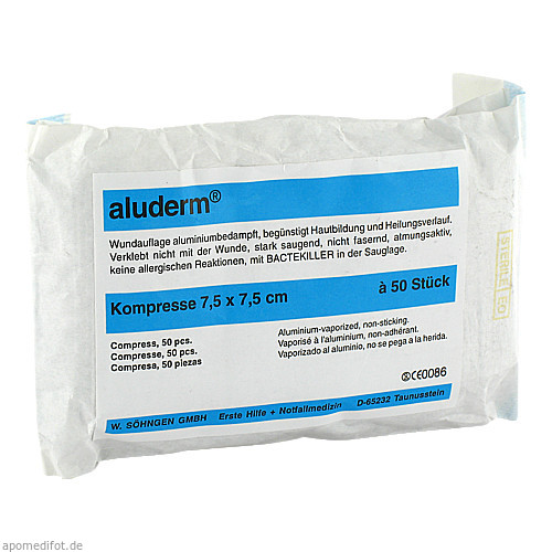 ALUDERM KOMPRESSEN 7.5X7.5, 50 ST, W.Söhngen GmbH