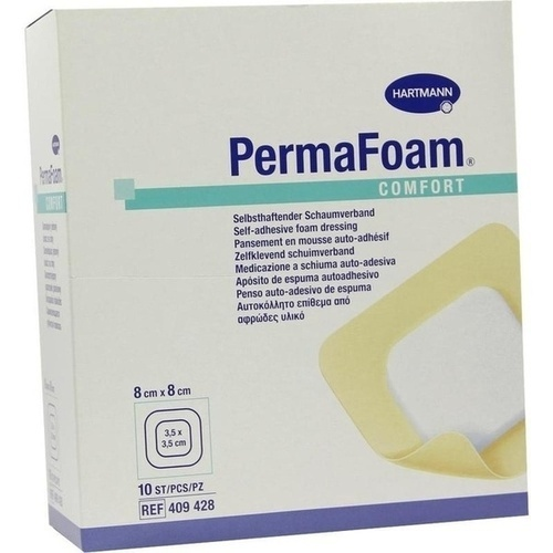 PermaFoam Comfort Schaumverband 8x8cm, 10 ST, Paul Hartmann AG