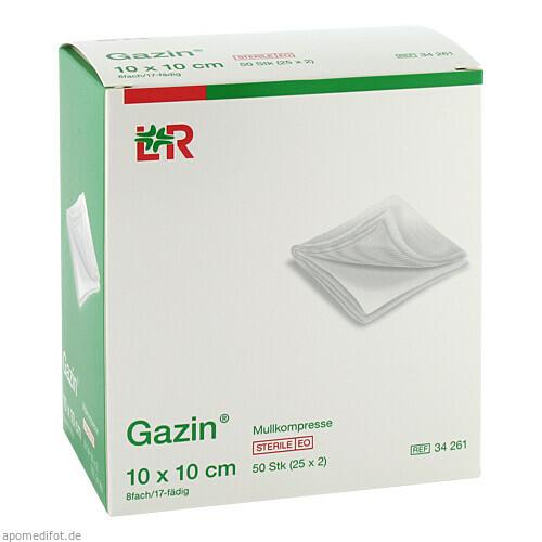 Gazin Kompresse 10x10cm 8fach steril, 25X2 ST, Lohmann & Rauscher GmbH & Co. KG