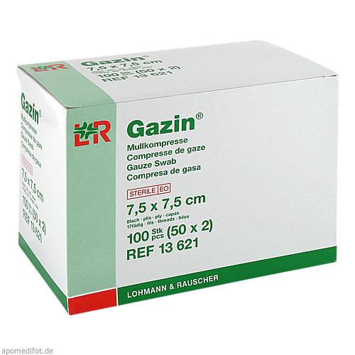 Gazin Kompresse 7.5x7.5cm 8fach steril, 50X2 ST, Lohmann & Rauscher GmbH & Co. KG