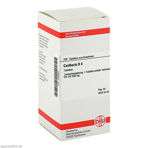 CANTHARIS D 4 Tabletten, 200 ST, DHU-Arzneimittel GmbH & Co. KG