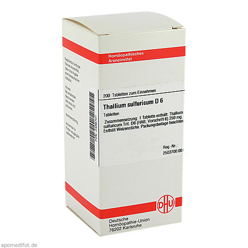 THALLIUM SULF D 6, 200 ST, Dhu-Arzneimittel GmbH & Co. KG