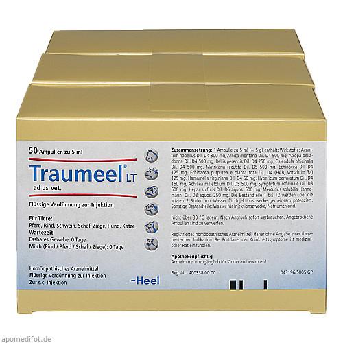 TRAUMEEL LT ad us.vet.Ampullen, 150X5 ML, Biologische Heilmittel Heel GmbH