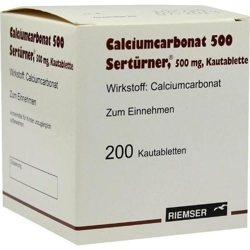 CALCIUMCARBONAT 500 Kautabletten, 200 ST, Abanta Pharma GmbH