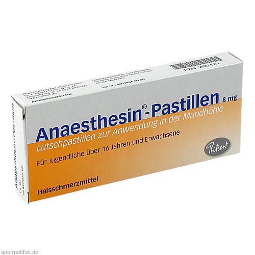 ANAESTHESIN Pastillen, 20 ST, Dr. Ritsert Pharma GmbH & Co. KG