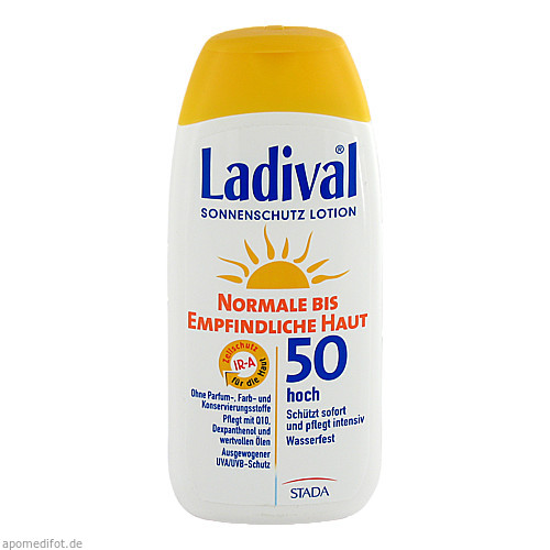 LADIVAL norm.bis empfindl.Haut Lotion LSF 50, 200 ML, STADA GmbH