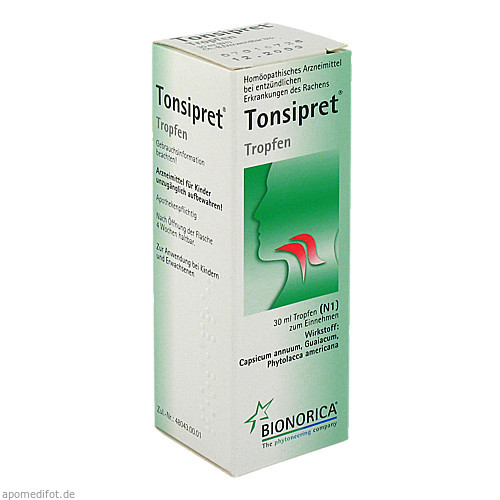 TONSIPRET TROPFEN, 30 ML, Bionorica Se