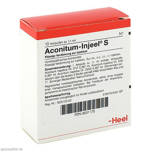 ACONITUM INJ S, 10 ST, Biologische Heilmittel Heel GmbH