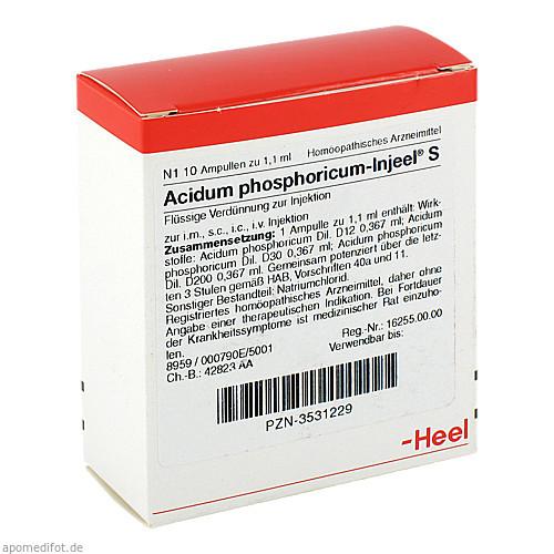 ACIDUM PHOS INJ S, 10 ST, Biologische Heilmittel Heel GmbH