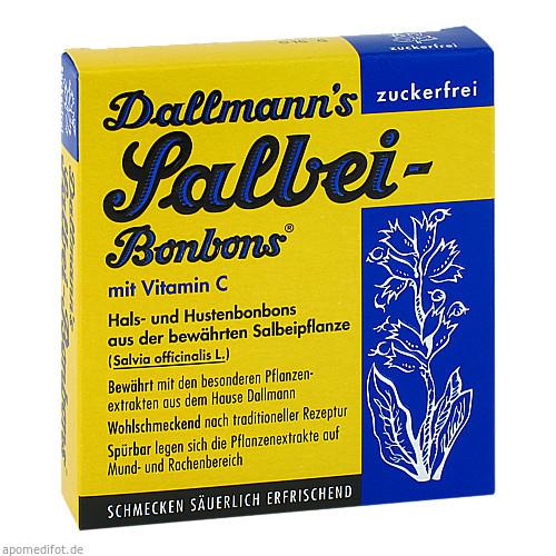 DALLMANNS SALBEIBONBONS zuckerfrei, 20 ST, Dallmann & Co. Fabr.Pharm.Präp. GmbH